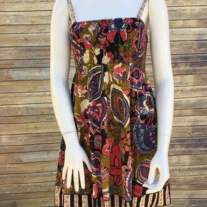 Fire Los Angeles Floral Multi-color Sun Dress